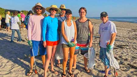 coastal beach cleanup